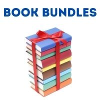 """Stack of books with text """"Book Bundles"""""""