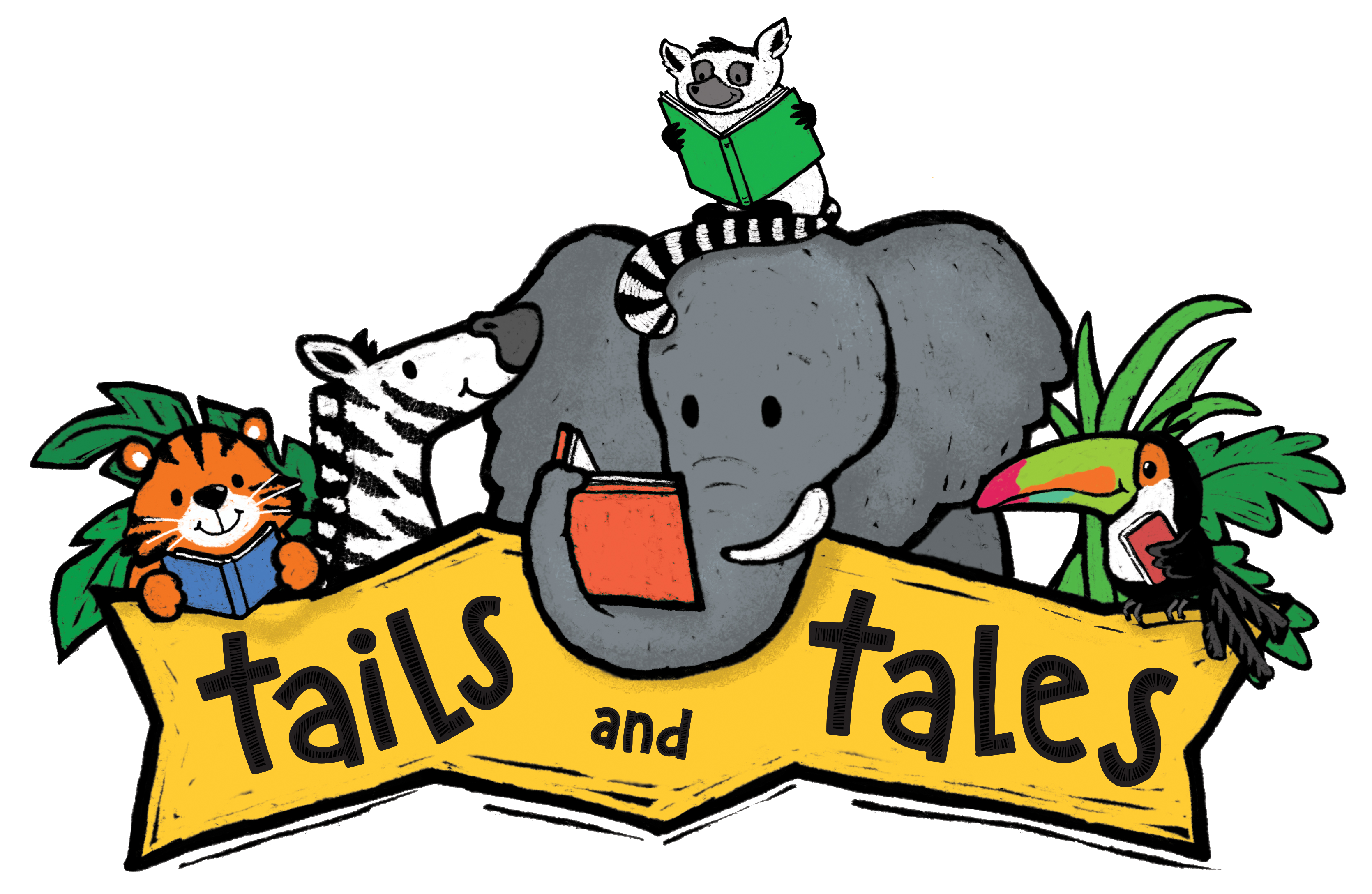 Tails and Tales animals and banner