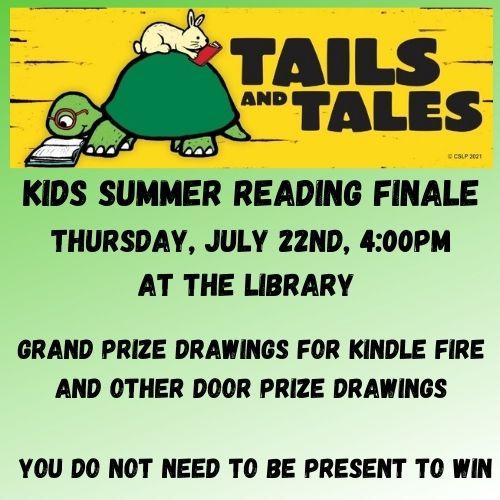 Kids Summer Reading Finale